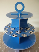 Cupcake Stand - Boys Blue Reversible